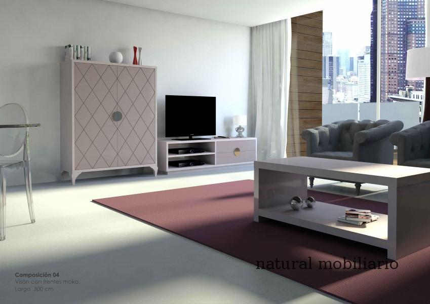 Muebles Modernos chapa natural/lacados salon moderno cubi 1-1-1153