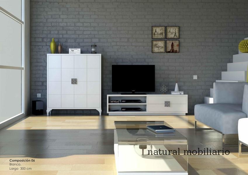 Muebles Modernos chapa natural/lacados salon moderno cubi 1-1-1155