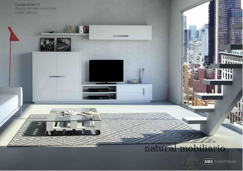 Muebles Modernos chapa natural/lacados salon moderno cubi 1-1-1150