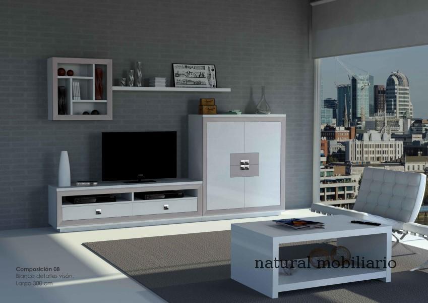 Muebles Modernos chapa natural/lacados salon moderno cubi 1-1-1157