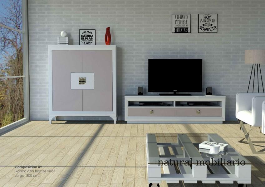 Muebles Modernos chapa natural/lacados salon moderno cubi 1-1-1158