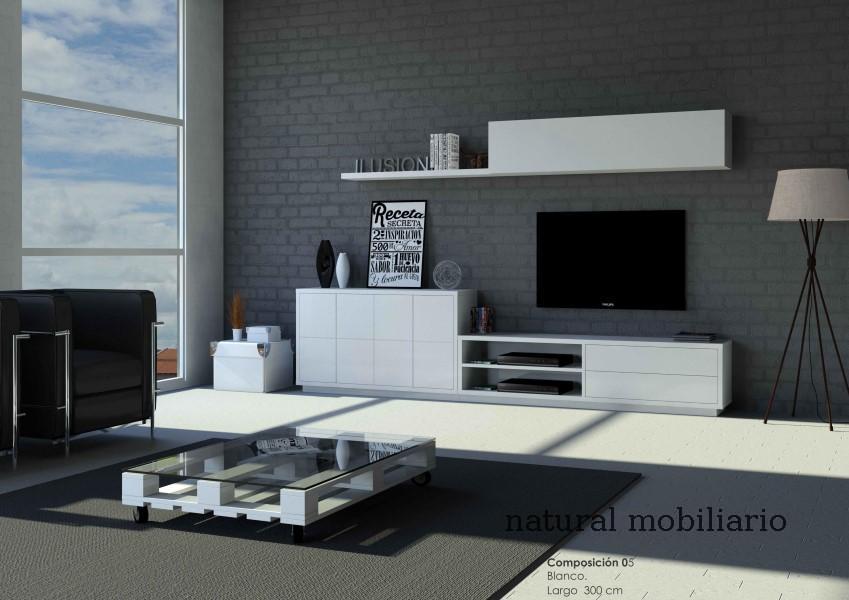 Muebles Modernos chapa natural/lacados salon moderno cubi 1-1-1154