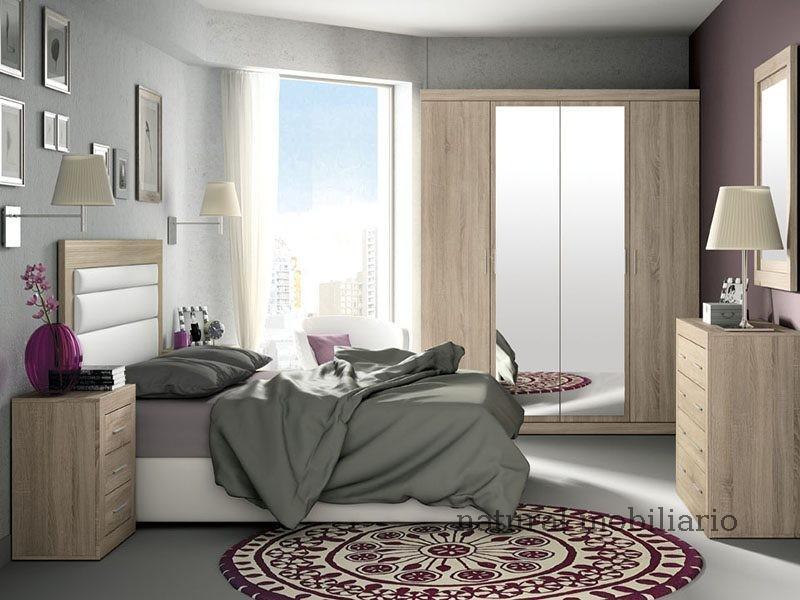 Muebles Modernos chapa sintética/lacados dormitorio moderno azor 1-21-820