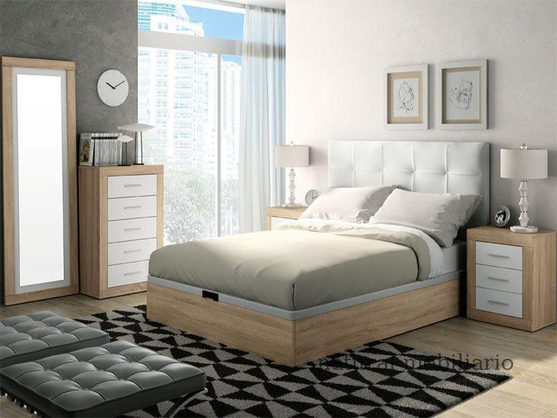 Muebles Modernos chapa sintética/lacados dormitorio moderno azor 1-21-813