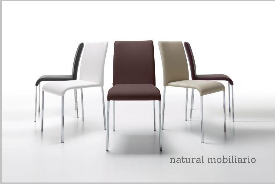 silla patas cromo