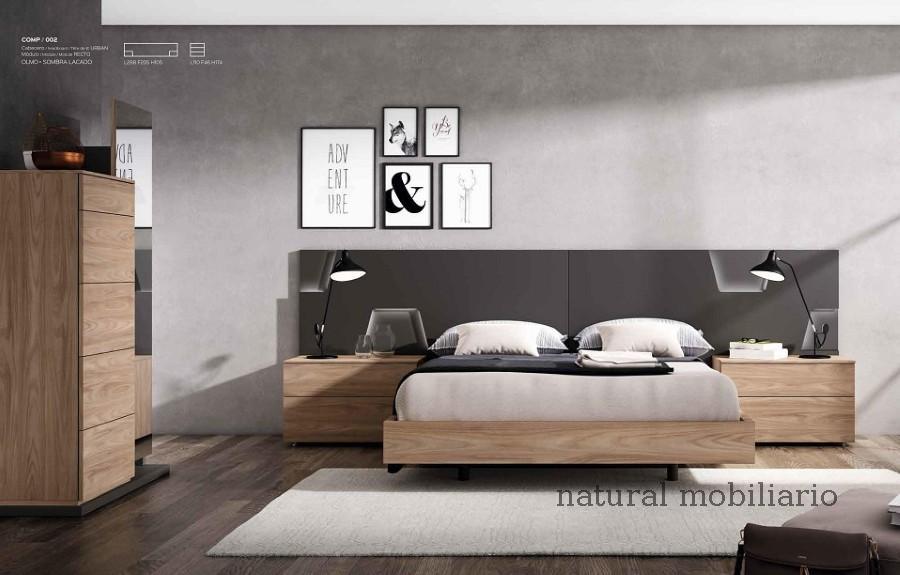 Muebles Modernos chapa natural/lacados dormitorio mese  1-87-402