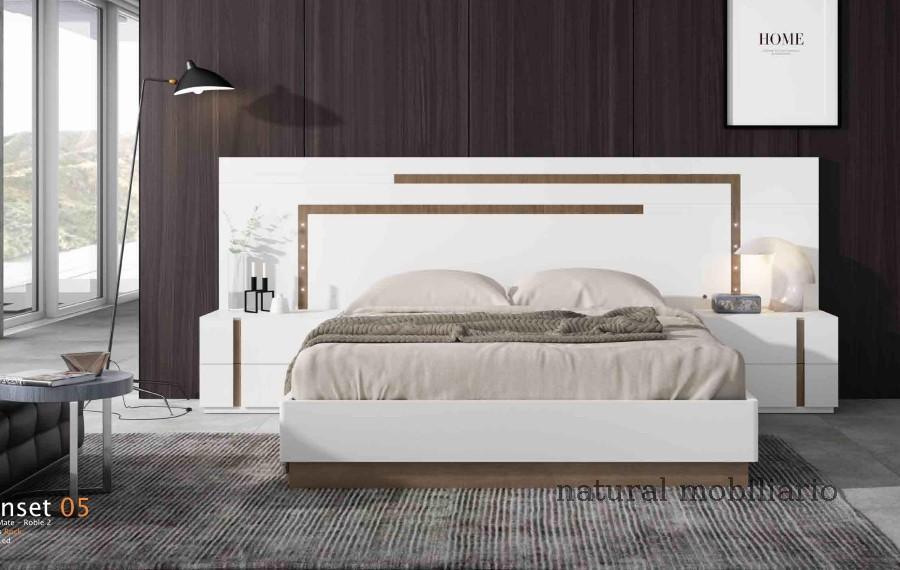 Muebles Modernos chapa natural/lacados dormitorio cubi 1-144 - 305